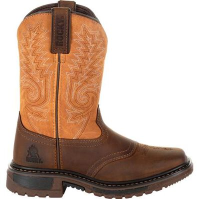 Rocky Kids' Ride FLX Western Boot, , large