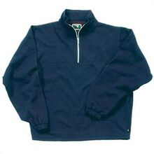 Berne Navy Thermal-Lined Original Fleece Quarter Zip