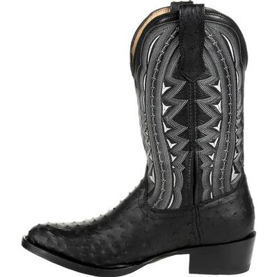 Durango® Premium Exotic Full-Quill Ostrich Ebony Western Boot, , large