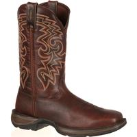 Rebel by Durango Dark Brown Pull-On Western Boot, , medium