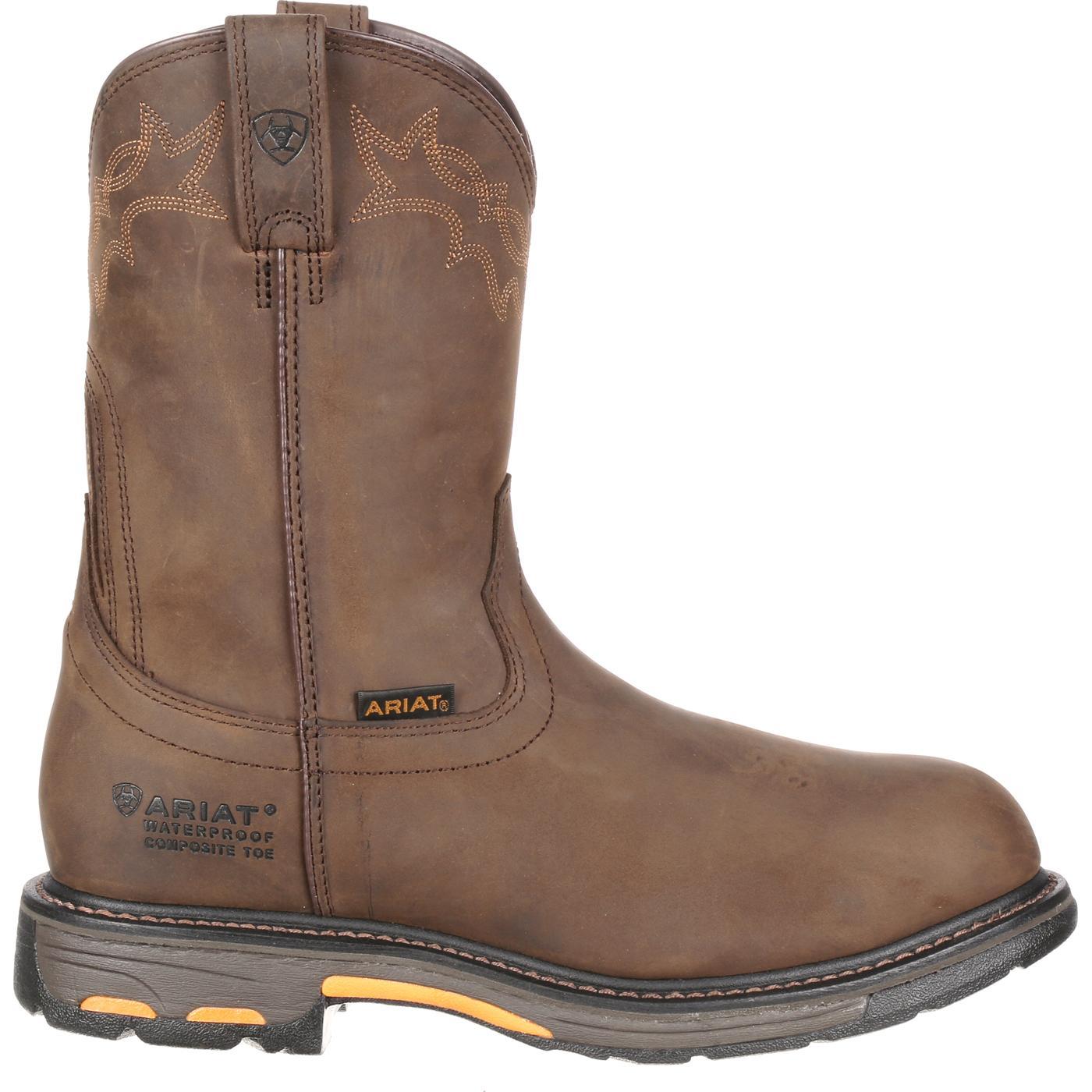 8b492fbe840 Ariat WorkHog H2O Composite Toe Waterproof Western Work Boot