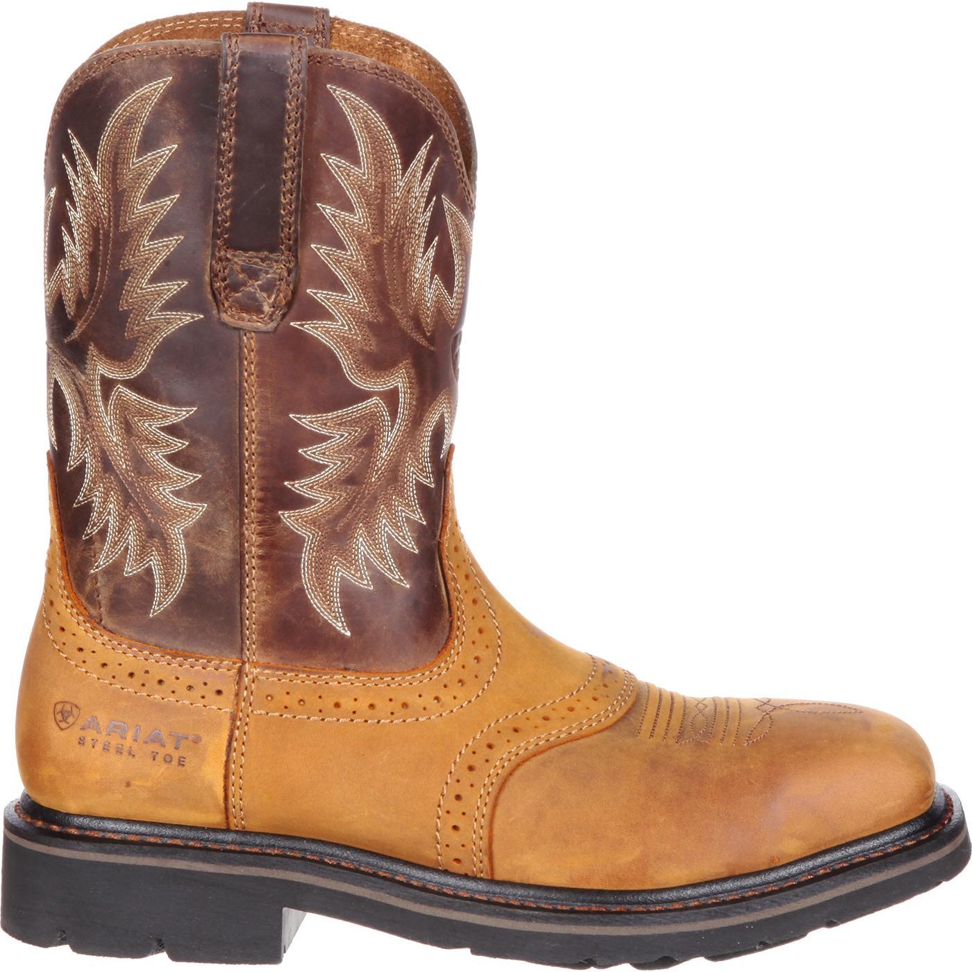 34e11886557 Ariat Sierra Wide Square Steel Toe Western Work Boot