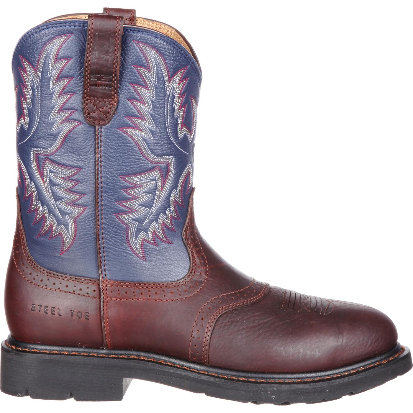 Ariat Sierra Saddle Steel Toe Western Work Boot, #10002438