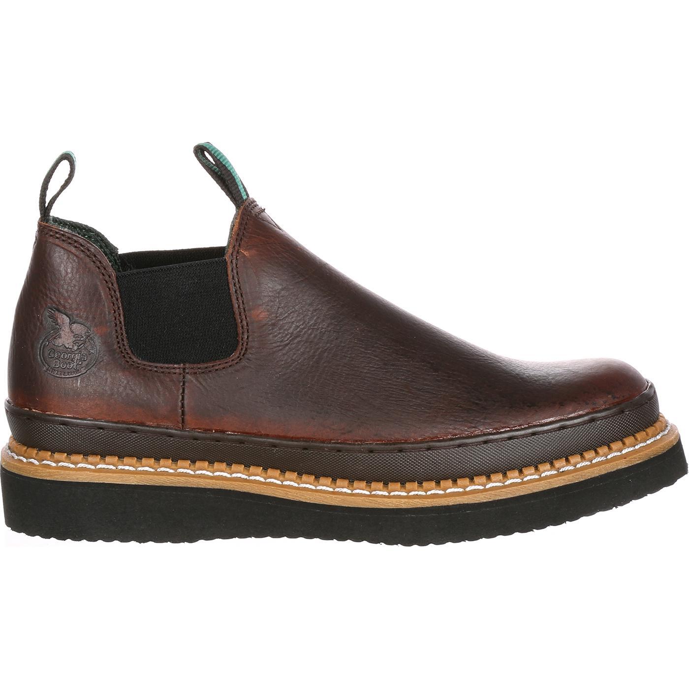 24360043f59e Men's Brown Romeo Slip On Work Shoe by Georgia Boot #GR274