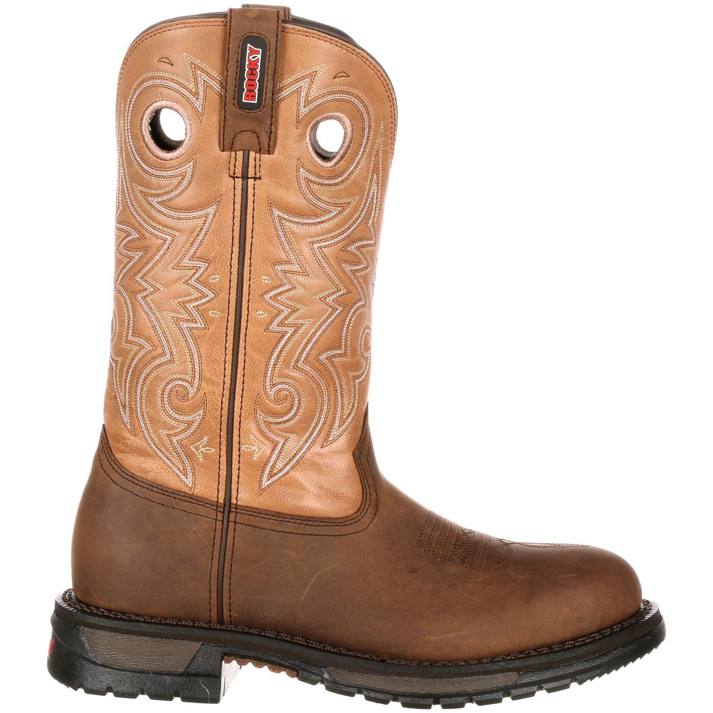 comfortable brown western boot rocky original ride