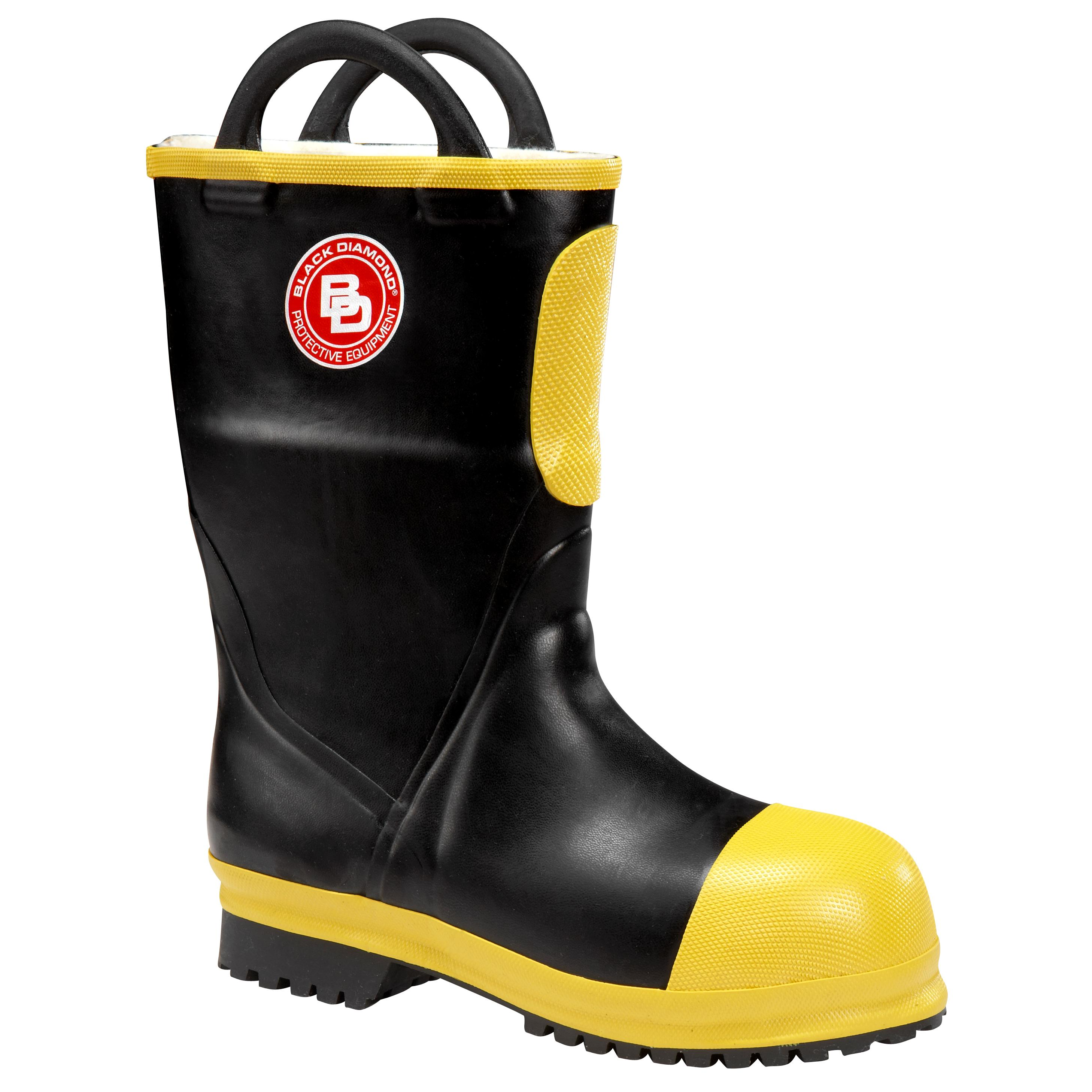 Rubber Insulated Firefighter Boots 11 Inch Nfpa By Black