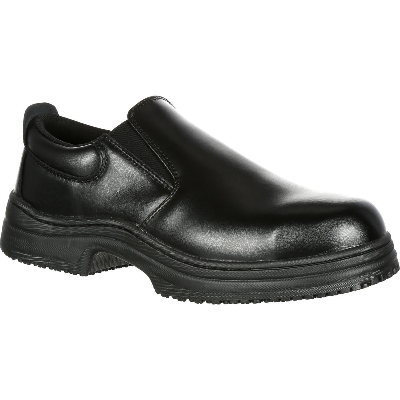 slipgrips steel toe slip resistant slip on work shoe sg7437