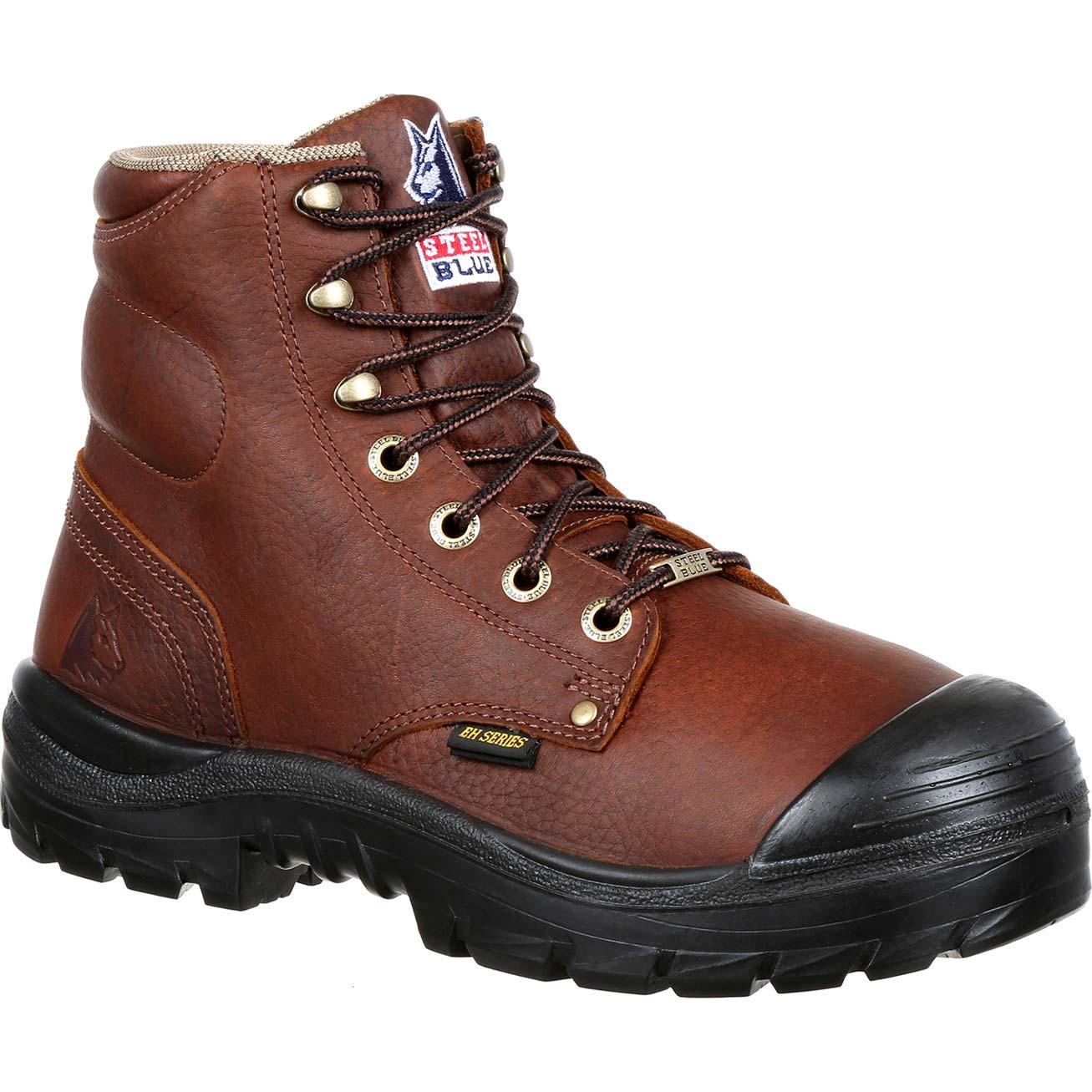 680c31cd49c6ca Steel Blue Argyle Bump Steel Toe Internal Met Guard Work Boot, ST832912
