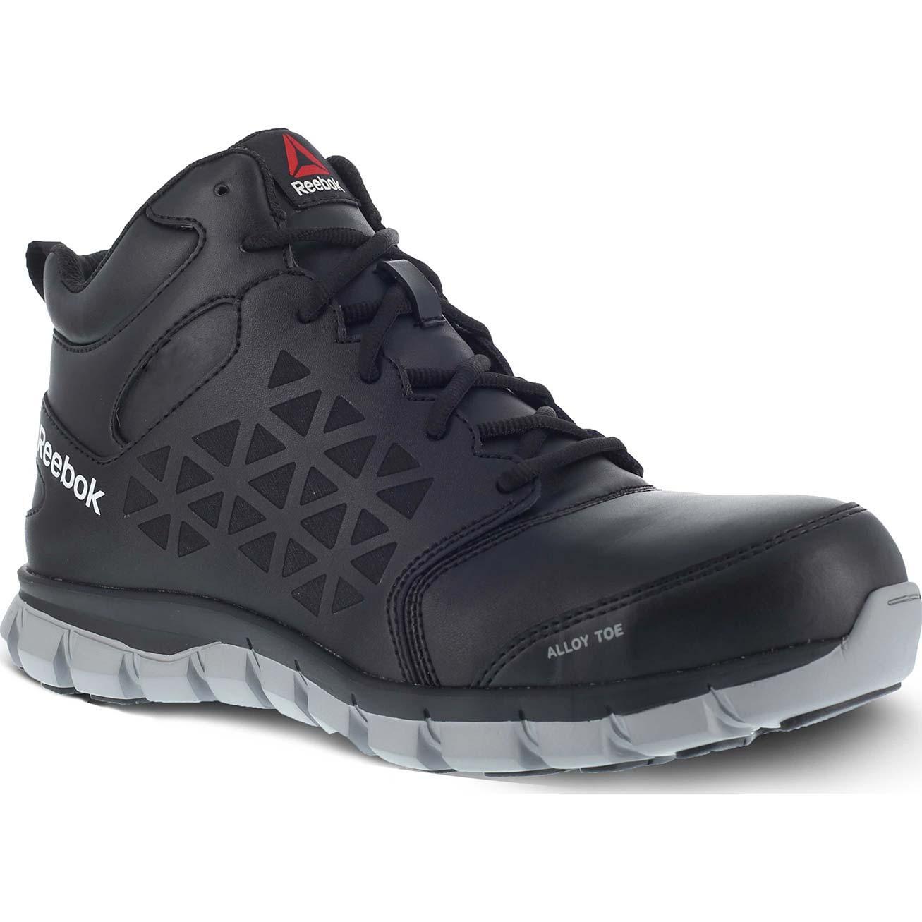 7532ce6ec Reebok Sublite Cushion Work Alloy Toe Electrical Hazard Athletic Work Shoe