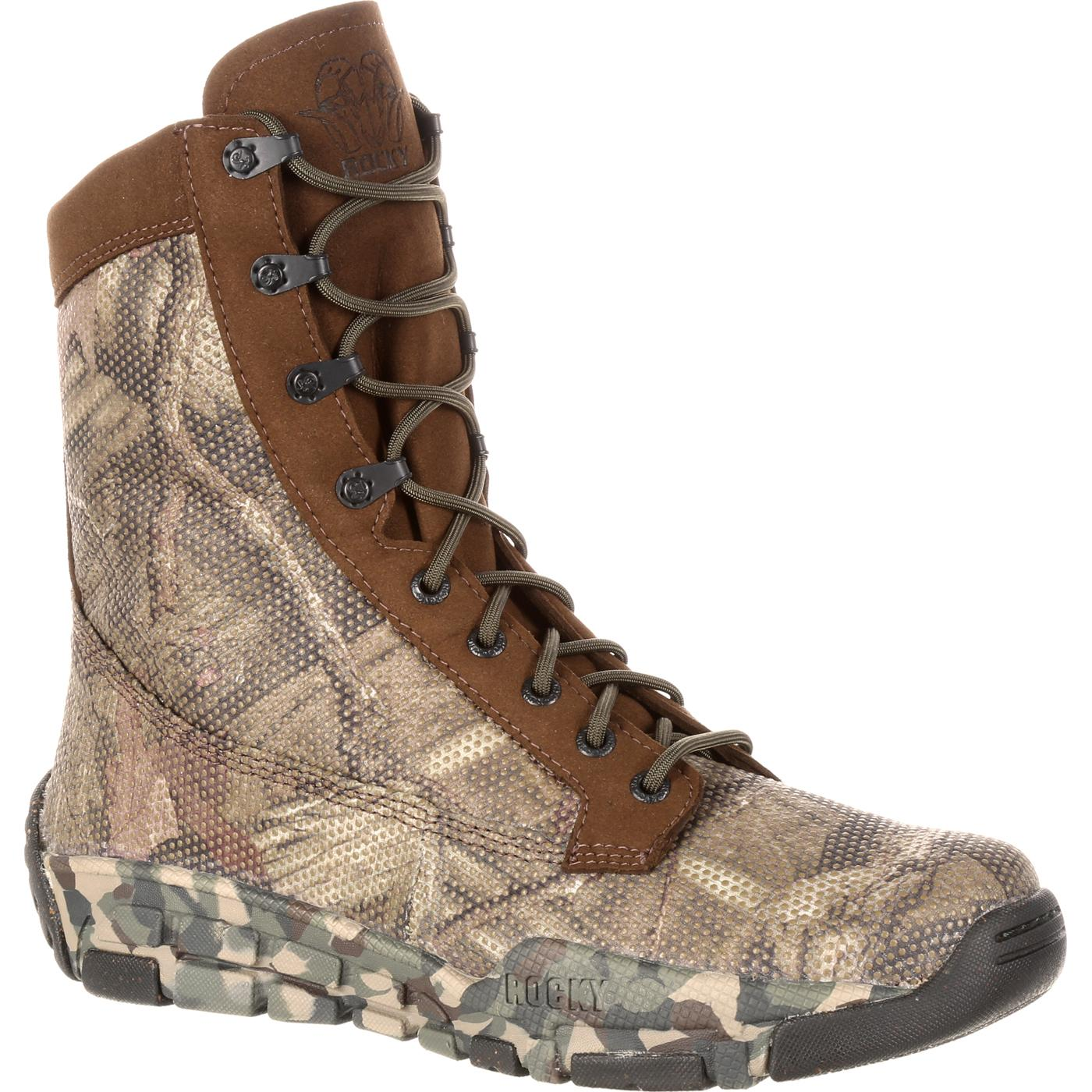 Men S Camouflage Hunting Boot Rocky Boot Style Rks0155ia