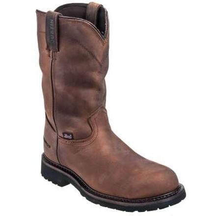 Justin Original Workboots Wyoming Worker II Steel Toe Waterproof Pull-On Work Boot, , large