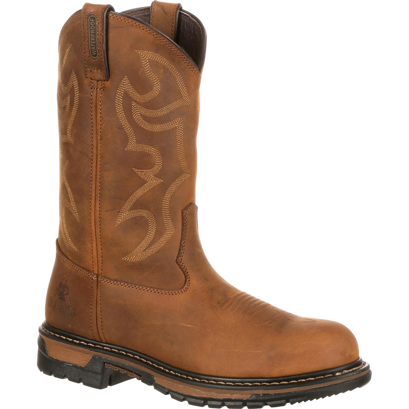 Men's Waterproof Steel Toe Western Boot, Rocky Original Ride