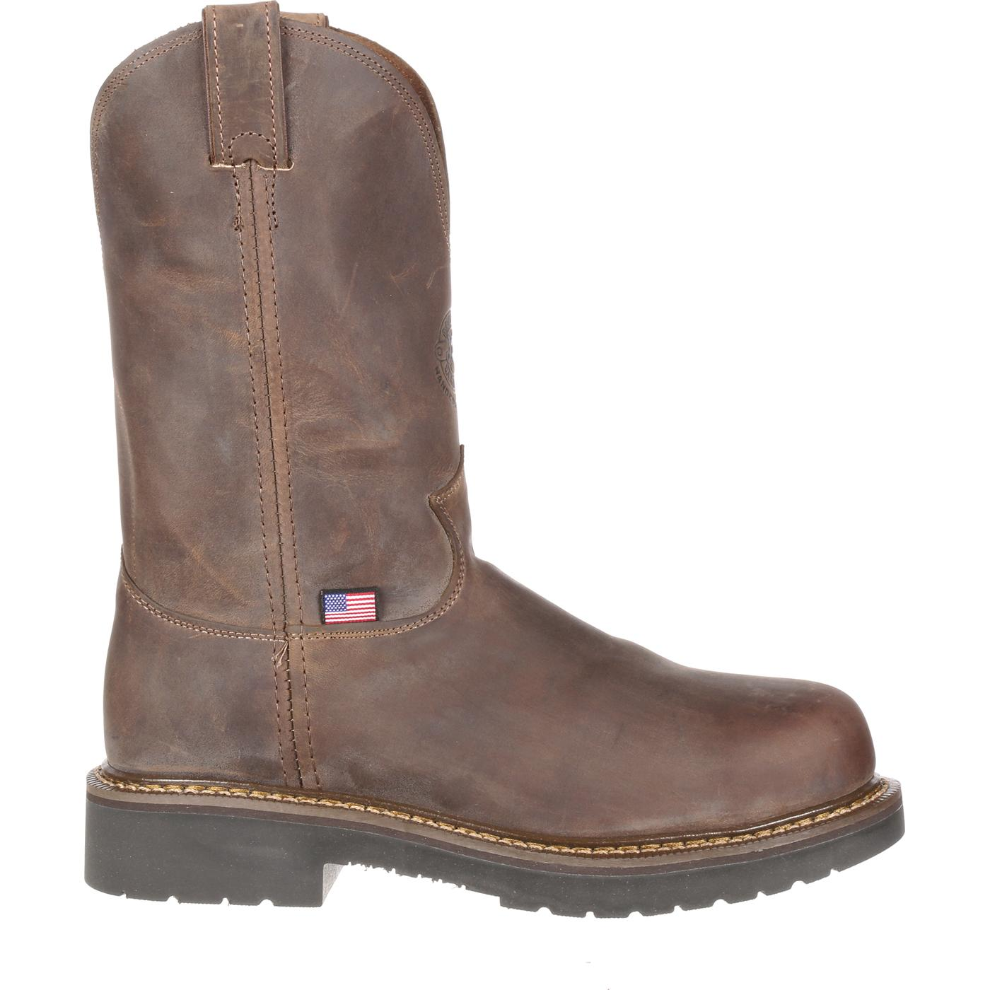 Justin Steel Toe Puncture-Resistant Pull-On Work Boot, #CD4445