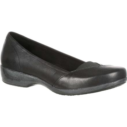 4EurSole Soprano Women's Black Low Wedge