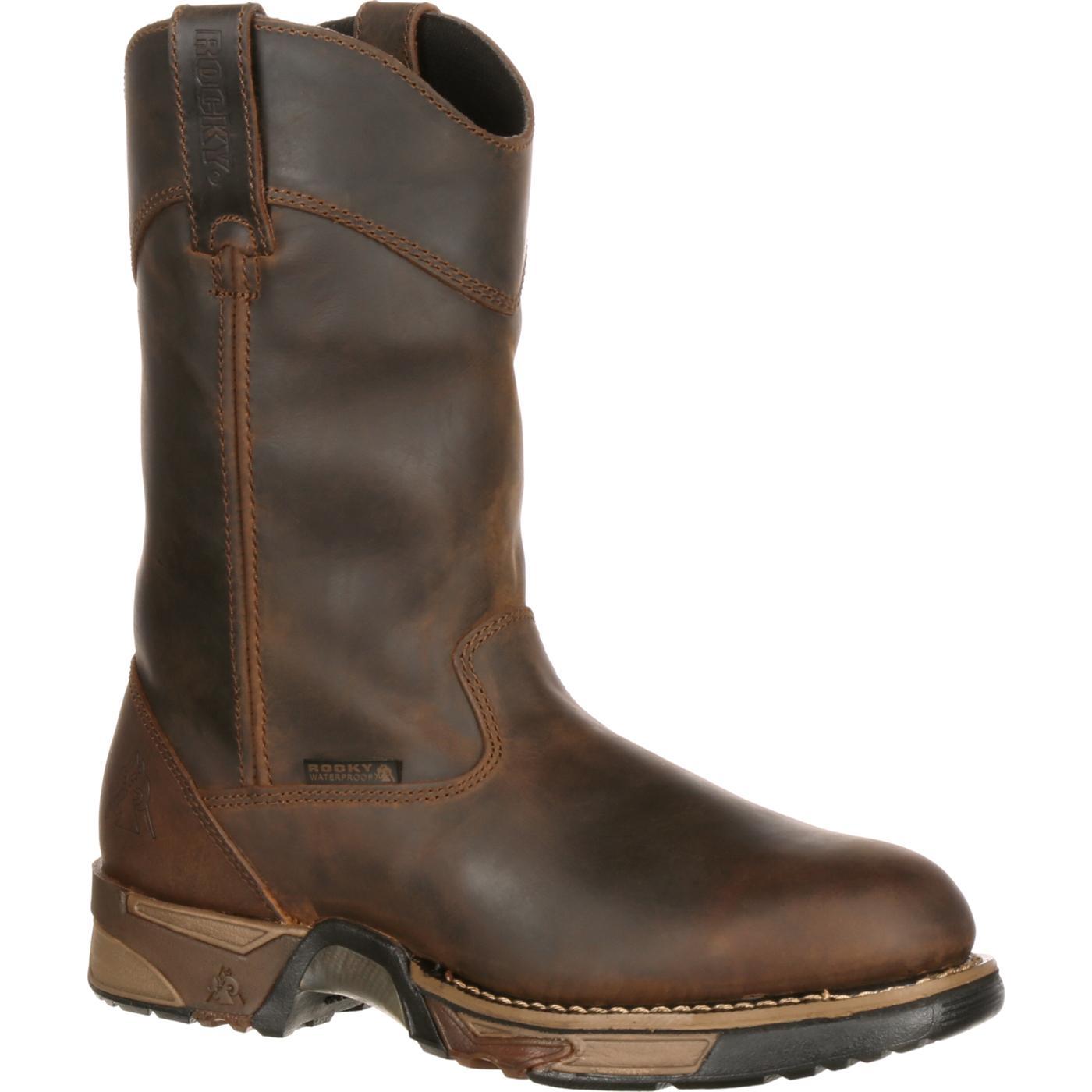 Men S Steel Toe Waterproof Pull On Work Boot Rocky 6639