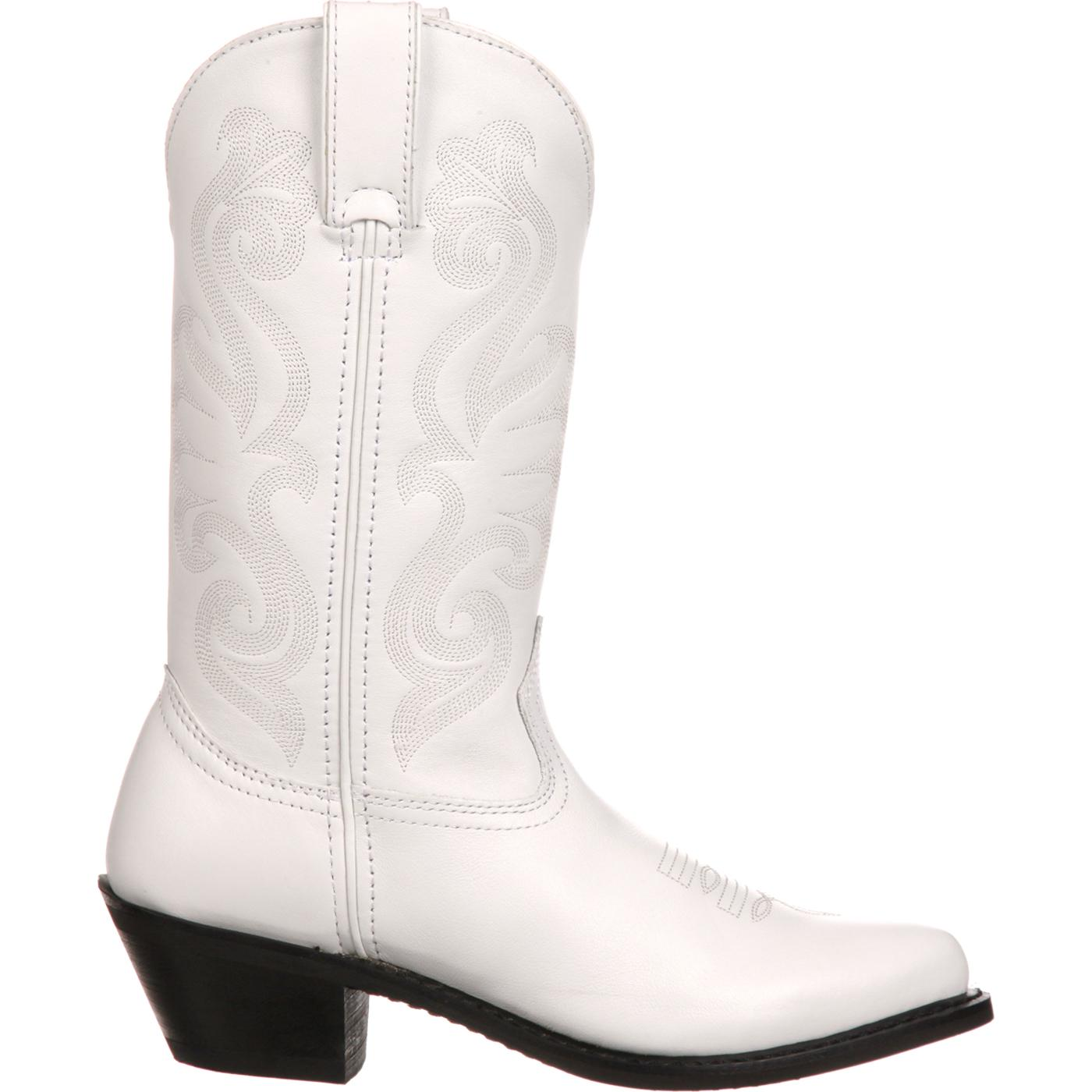 Durango Womens White Leather Western Boot Large