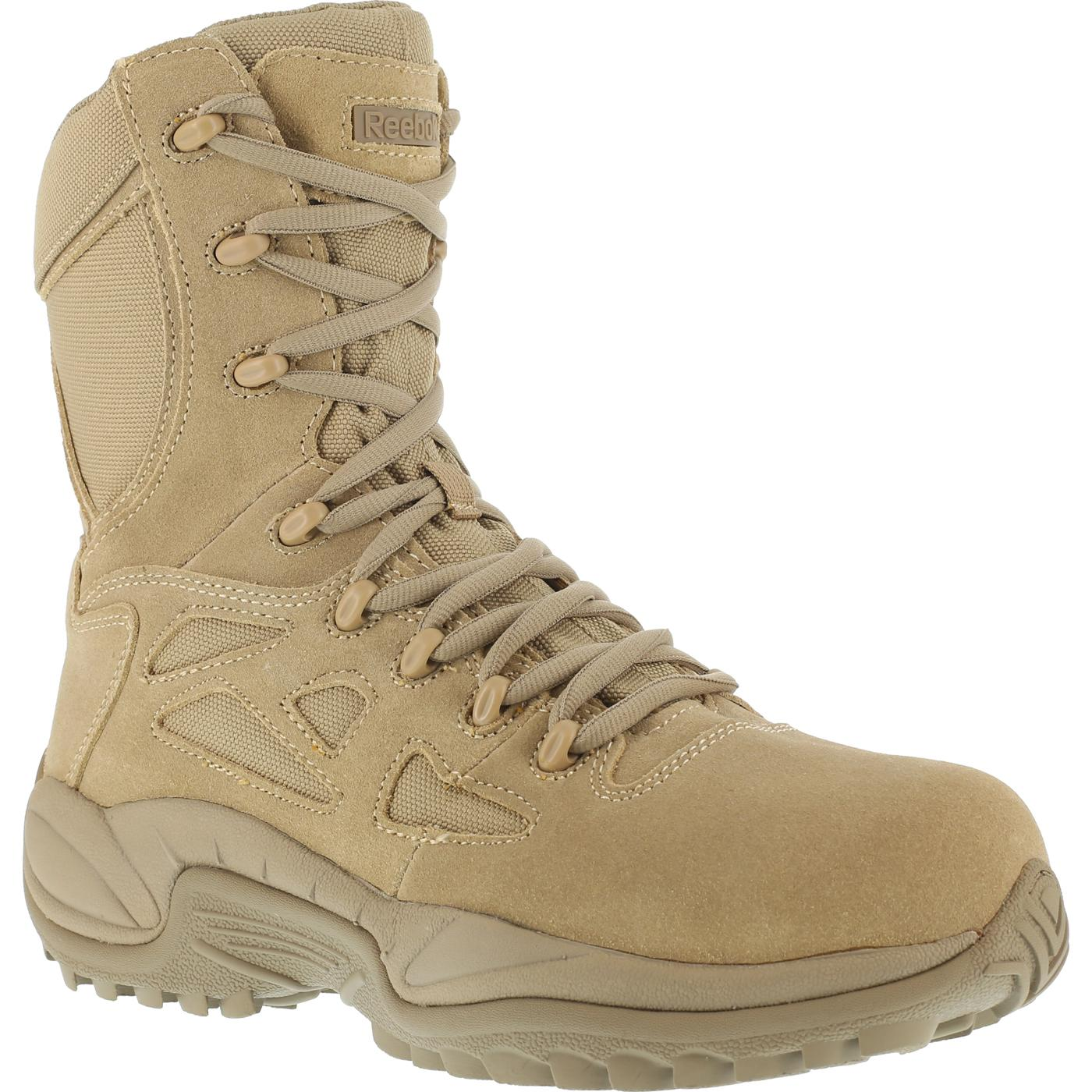 Tan Reebok Stealth Composite Toe Military Boot W Side
