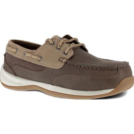 Rockport Works Sailing Club Women's Steel Toe Static Dissipative Boat Shoe
