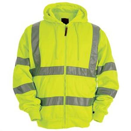 Berne Hi-Vis Thermal-Lined Hooded Sweatshirt, , large