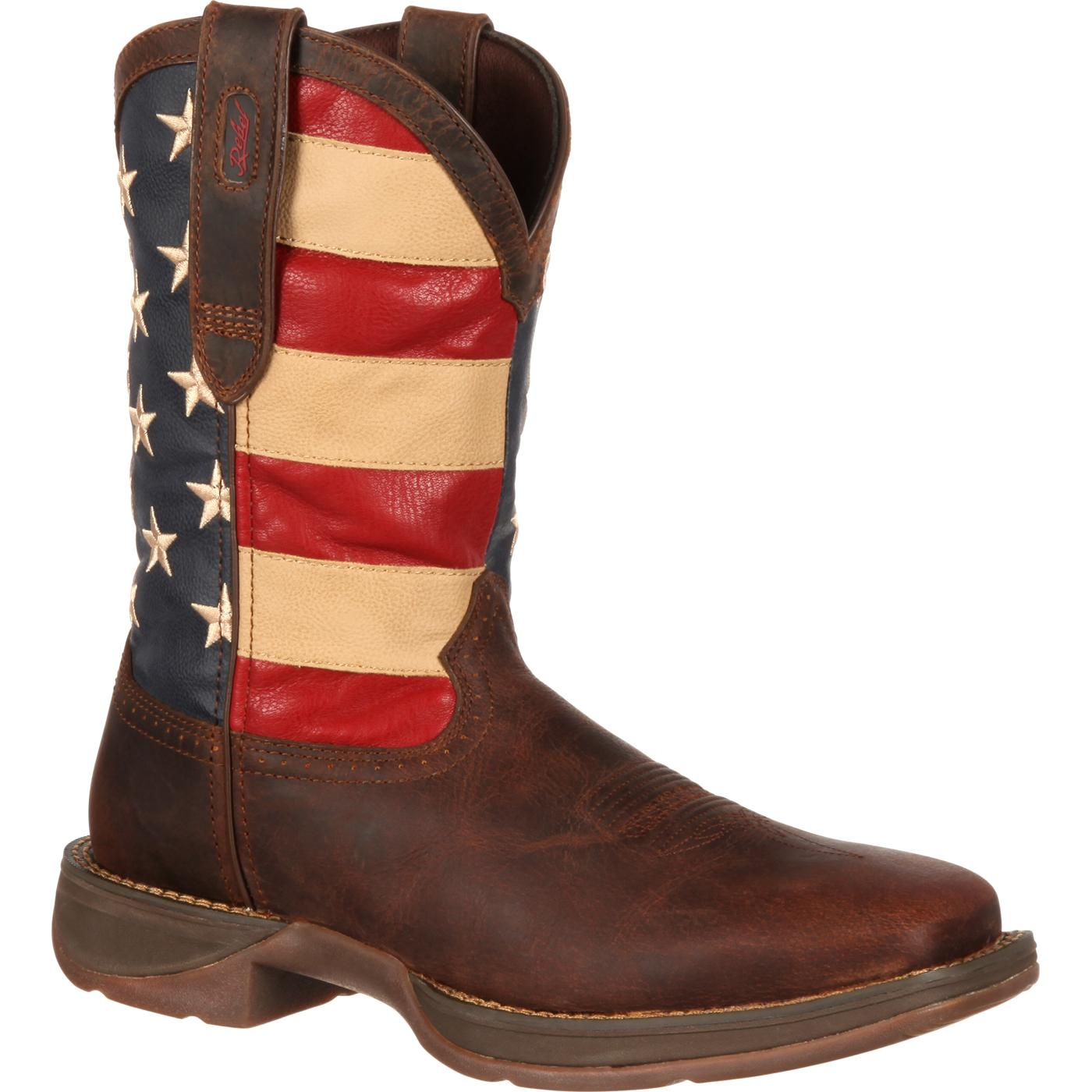 Rebel by Durango Patriotic Pull-On Western Flag Boot, , large