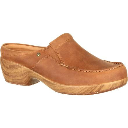 4Eursole Comfort 4Ever Women's Tan Moc-Toe Slide