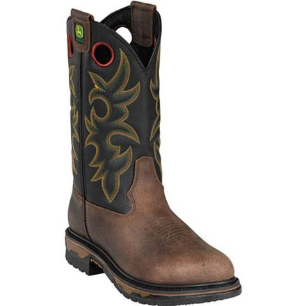 John Deere Steel Toe Western Work Pull-On Boot, , large
