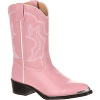 Durango Little Kids' Pink Western Boot, , medium