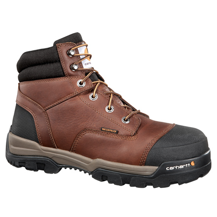 Carhartt Ground Force Men's Composite Toe Waterproof Electrical Hazard Brown Work Boot