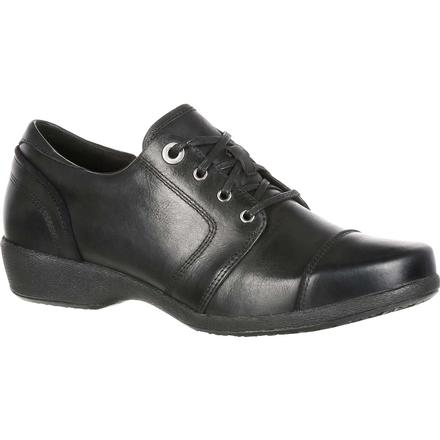 4EurSole Rococo Women's Black Low Wedge Lacer Shoe