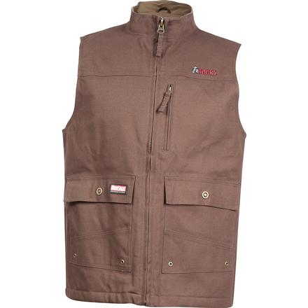 Rocky WorkSmart Men's Canvas Vest, BROWN, large