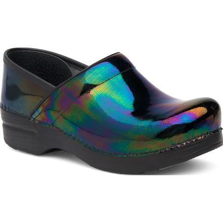 Dansko Professional Women's Petrol Patent Leather Clog, , large