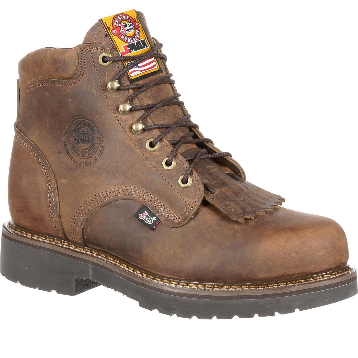 bf8ea464bea Justin Work Steel Toe CSA Approved Puncture Resistant Work Boot