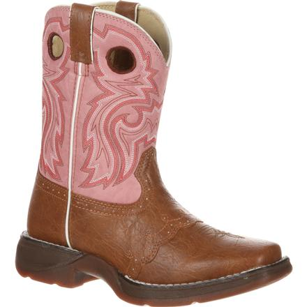 Lil' Durango Little Kid Tan Lacey Western Boot, , large