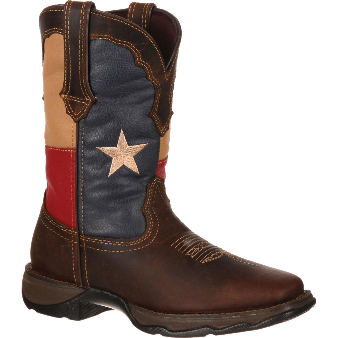 cc1c99d79d5 Lady Rebel by Durango Texas Flag Pull-On Western Boot