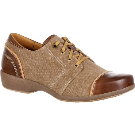 4EurSole Rococo Women's Tan Low Wedge Lacer Shoe, , large
