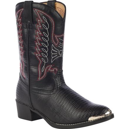 Durango Little Kid Black Lizard Print Western Boot, , large