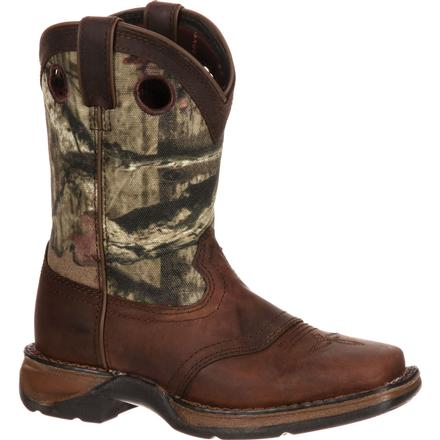 Lil' Durango Little Kid Camo Saddle Western Boot, , large