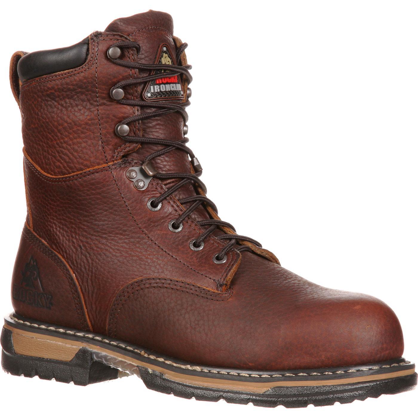 2c2be849911 Rocky IronClad Steel Toe Waterproof Work Boot