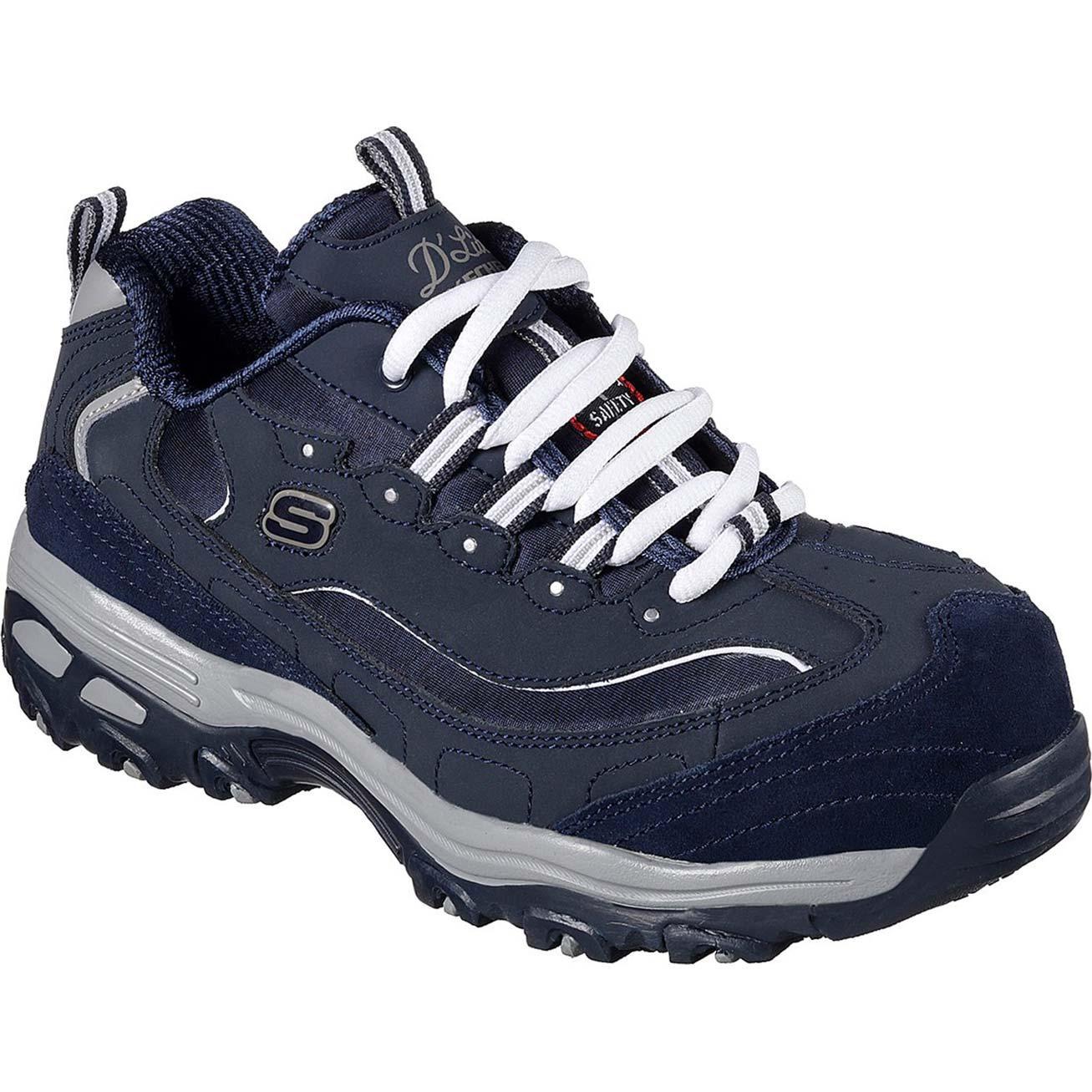 8bc2aa1b6e SKECHERS Work D'Lites Pooler Women's Alloy Toe Slip-Resistant Work Athletic  Shoe,