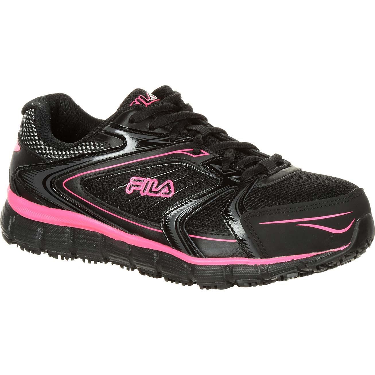 94fff53d59 Fila Memory Reckoning 7 Women's Steel Toe Slip-Resistant Work Athletic Shoe