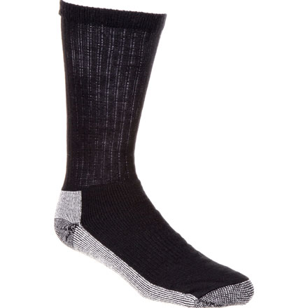 Georgia Boot Reinforced Crew Sock, BLACK, large