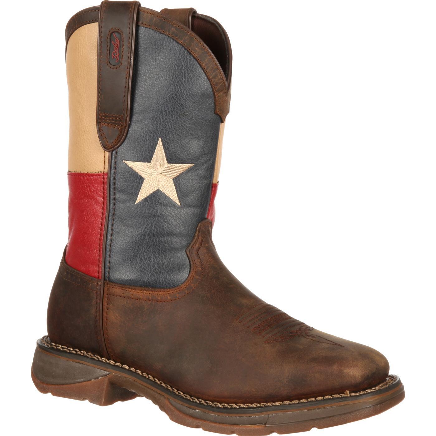 30c9ad97cde Rebel by Durango Steel Toe Texas Flag Western Boot