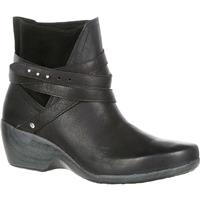 4EurSole Motif Women's Black Wedge Bootie, , medium