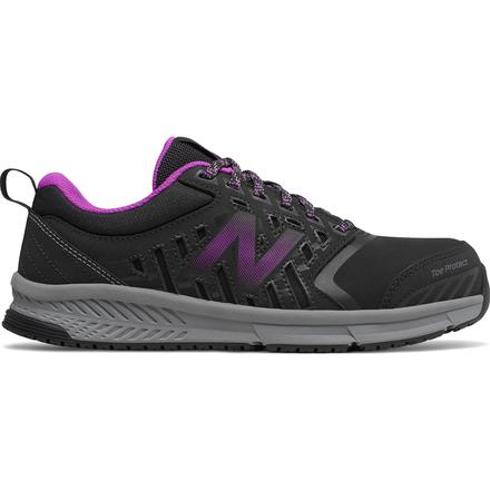New Balance 412v1 Women's Alloy Toe Black Athletic Work Shoes, , large