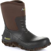 Rocky Core Chore Brown Rubber Outdoor Boot, , medium