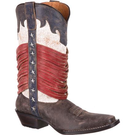 Durango Dream Catcher Americana Wrapped Fringe Western Boot, , large