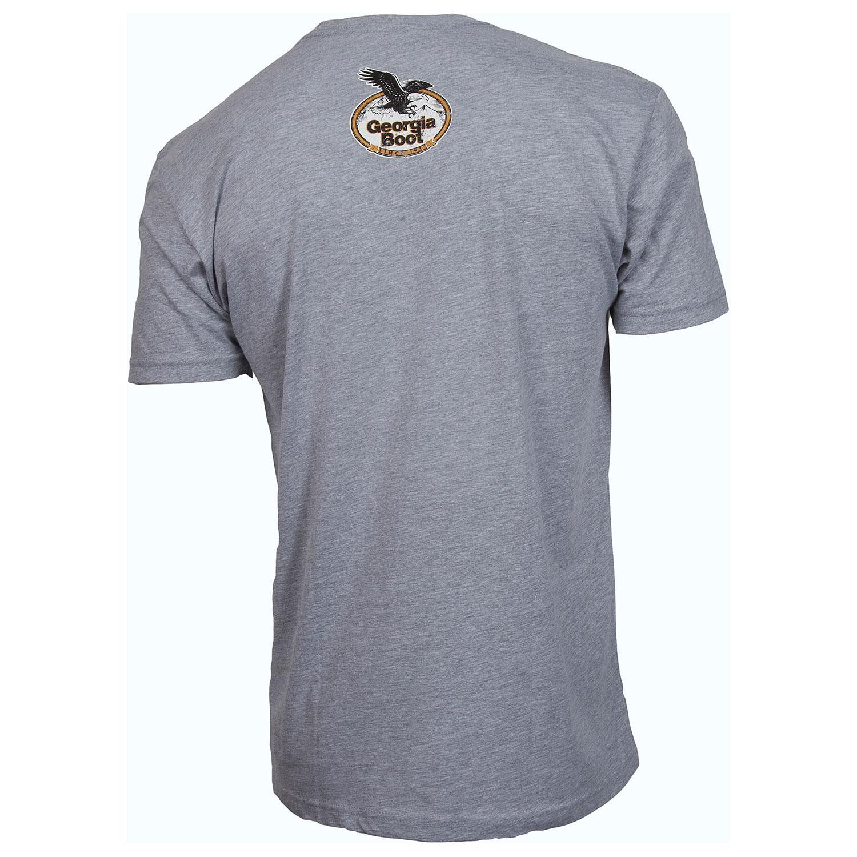 Men 39 S Vintage Gray T Shirt Georgia Boot Style Lw00073