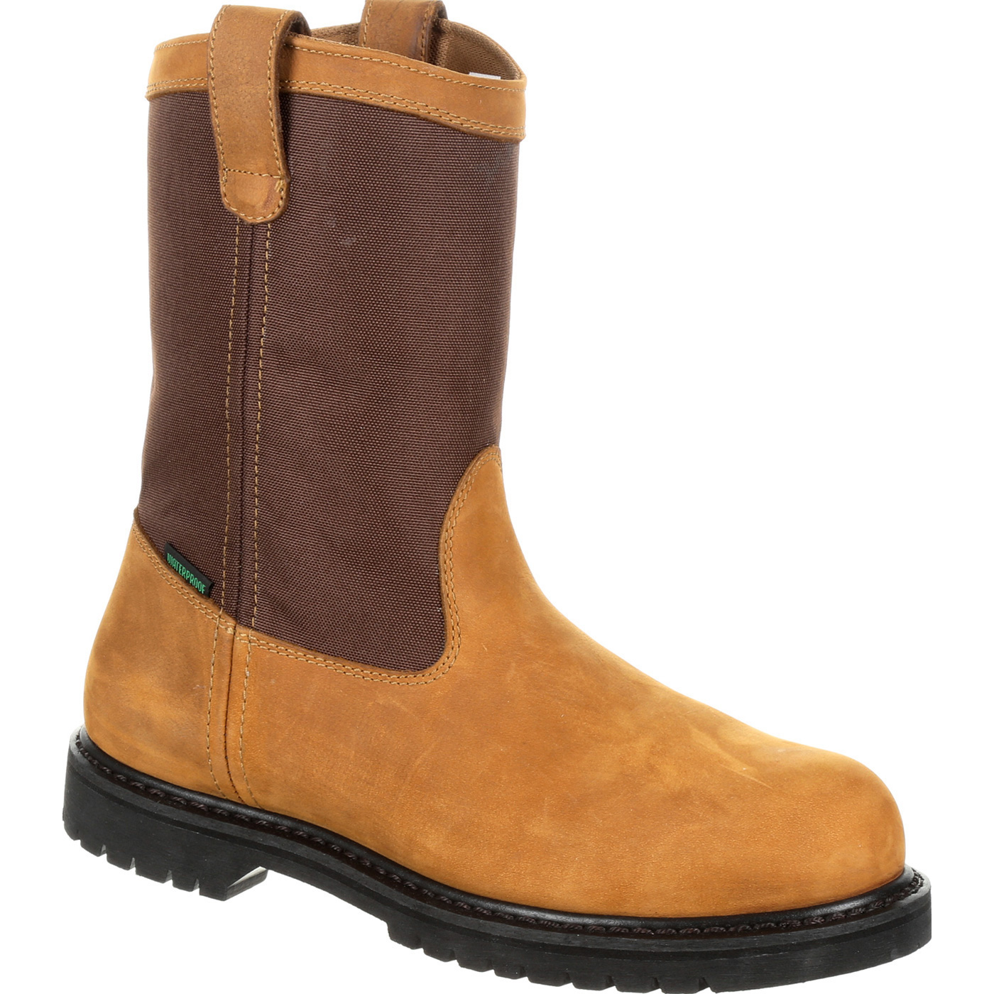 5ac1d003aa3 Lehigh Safety Shoes Men's Steel Toe Waterproof Electrical Hazard Rated  Brown Wellington Work Boots