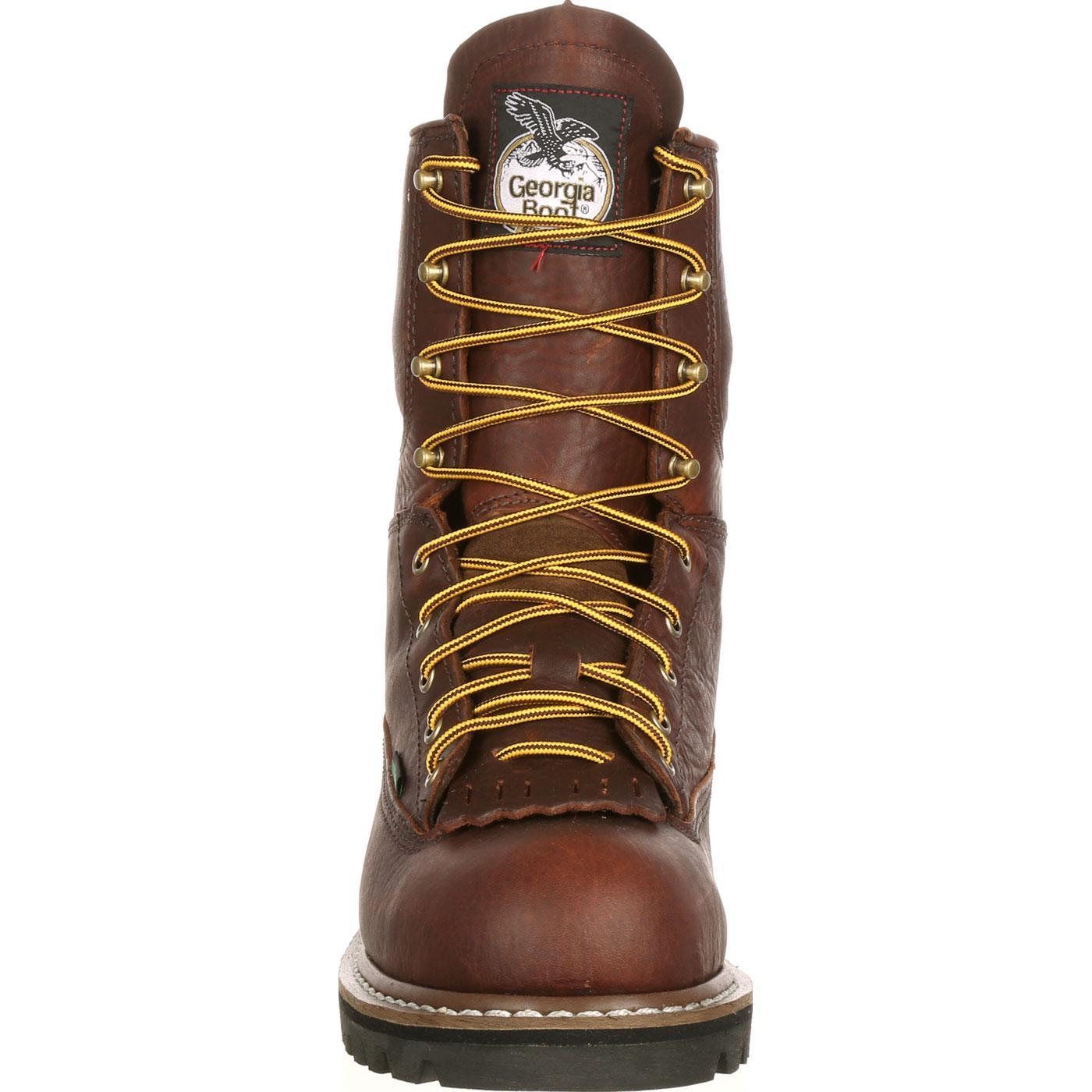 Georgia Boot Steel Toe Waterproof Lace To Toe Work Boot