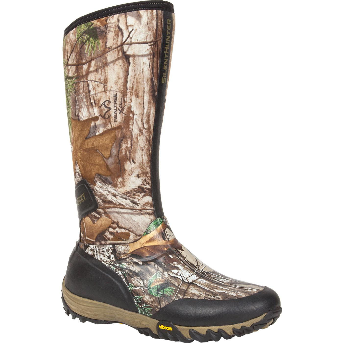 Waterproof Insulated Camo Rubber Boot, Rocky SilentHunter